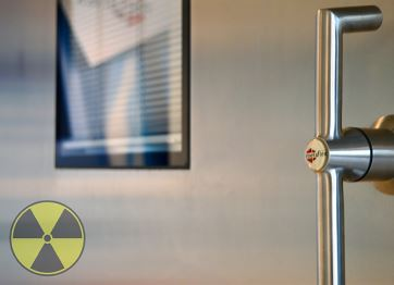 Radiation-proof sliding doors and patient safety